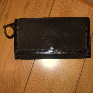 Bebe dark brown wallet (vintage look)